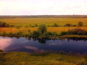 Река Вятка под Истобенском