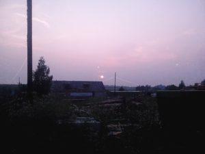 Закат в Кушалино