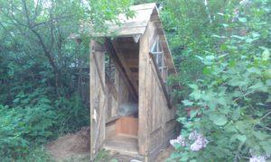 Построенный туалет