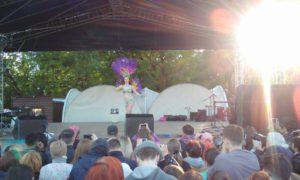 Выступление на фестивале