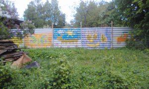 Расписной забор