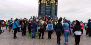 Общее фото у памятника Багратиону на старте Бородинской 100