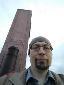 Памятник на Шевардинском редуте на Бородинском поле
