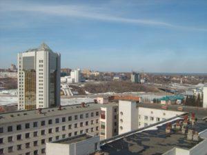 2010.04.11 Вид с крыши центра оказания услуг населению на РСХБ и правее